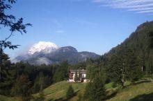 Panoramablick Schneerose Berghotel Horský region Grimming