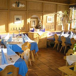 Restaurant/salle de petit-déjeuner Marco Polo Alpina Familien-& Sporthotel