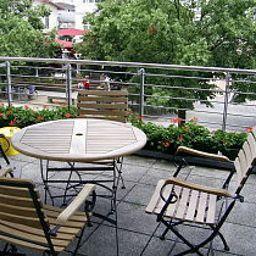 Terrasse Haus Strandperle Appartementanlage