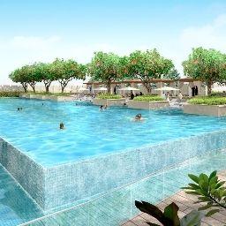 Schwimmbad The Address Dubai Mall