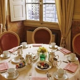 Breakfast room within restaurant Bernini Palace