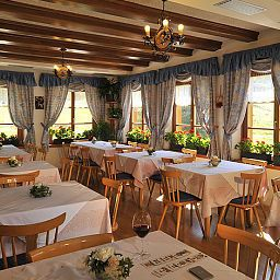 Breakfast room within restaurant Zum Hirschen Gasthof