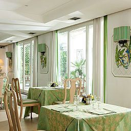 Breakfast room within restaurant Aris Garden