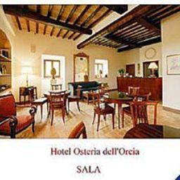 Vista all'interno Country House Osteria dell'Orcia