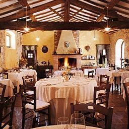 Breakfast room within restaurant Borgo Casa Bianca