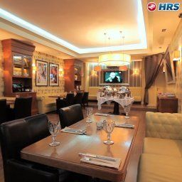 Breakfast room within restaurant Arbat House