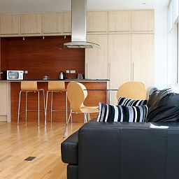 Vista all'interno Glasgow Lofts Apartments