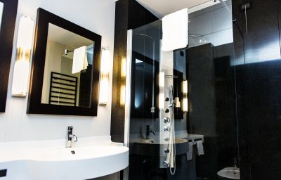 Bagno in camera Quality Hotel Atlantic Turin Airport Borgaro Torinese (Piemonte)