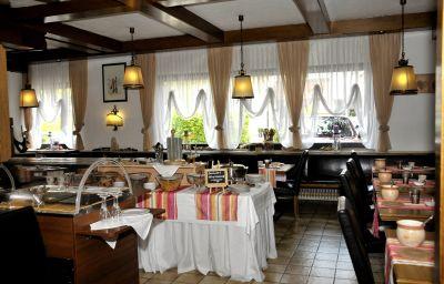 Sala de desayuno Drei Rosen