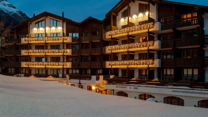 Exterior view Hotel National Zermatt Superior