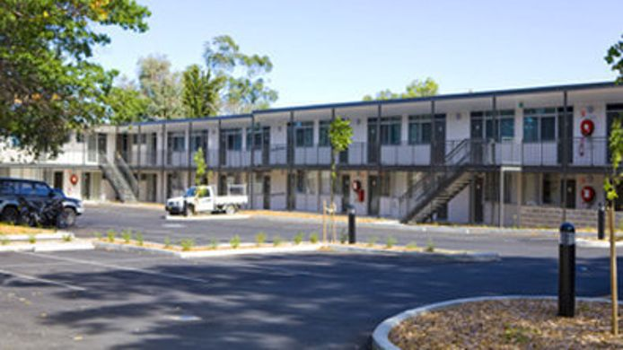 Exterior view BW TALL TREES CANBERRA