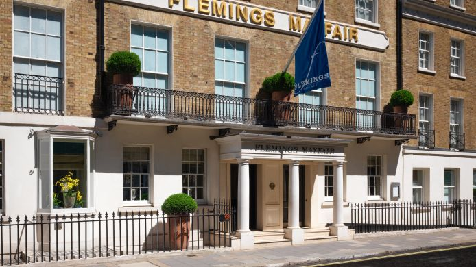 Buitenaanzicht Flemings Mayfair Small Luxury Hotels of the World