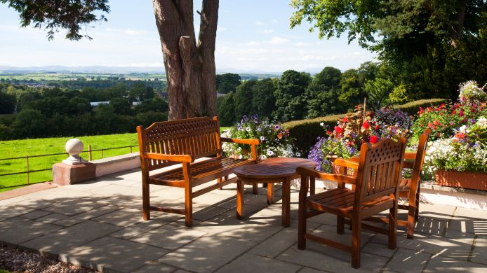 Terrace Appleby Manor Country House