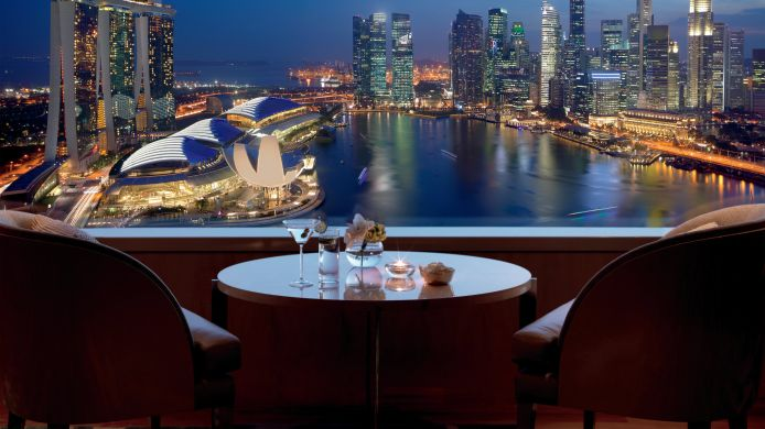 Buitenaanzicht The Ritz-Carlton Millenia Singapore