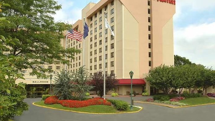 Exterior view New York LaGuardia Airport Marriott