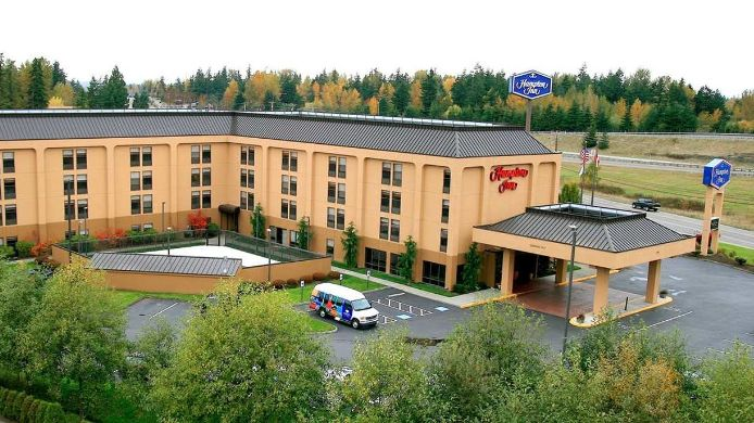 Exterior view Hampton Inn Bellingham Airport