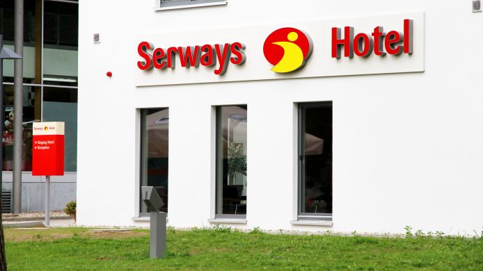 Buitenaanzicht Serways Bruchsal West