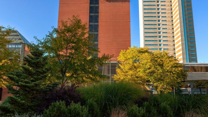 Exterior view Hilton Fort Wayne at the Grand Wayne Convention Center
