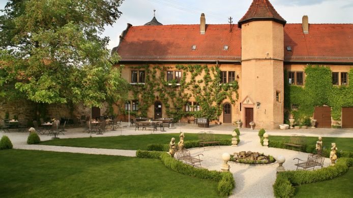 Buitenaanzicht Wörners Schloss ***plus Weingut & Wellness