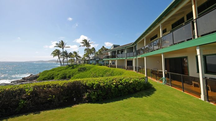 Exterior view a Condominium Resort at Poipu Castle Makahuena