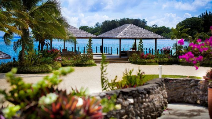 Buitenaanzicht WARWICK LE LAGON RESORT SPA