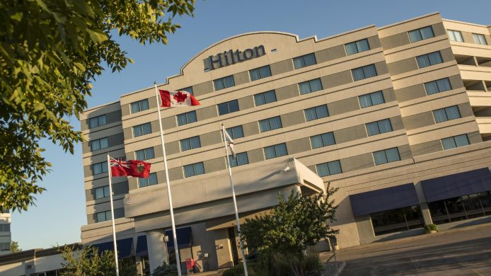 Exterior view Hilton Winnipeg Airport Suites