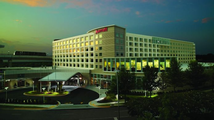 Buitenaanzicht Atlanta Airport Marriott Gateway