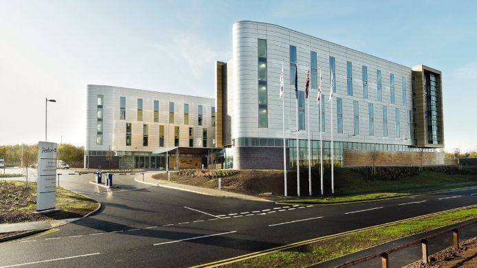 Exterior view East Midlands Airport Radisson Blu Hotel