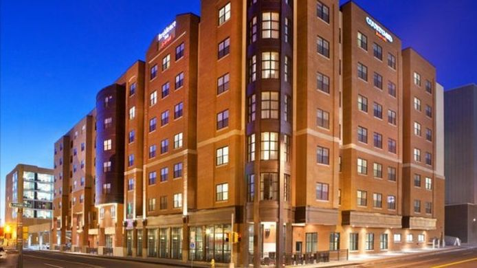 Exterior view Residence Inn Syracuse Downtown at Armory Square