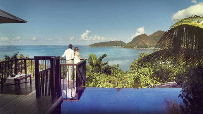 Room with a sea view Raffles Praslin Seychelles