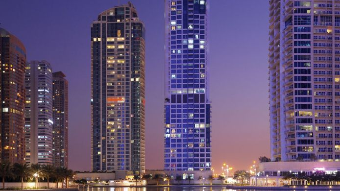 Exterior view Moevenpick Jumeirah Lakes Towers