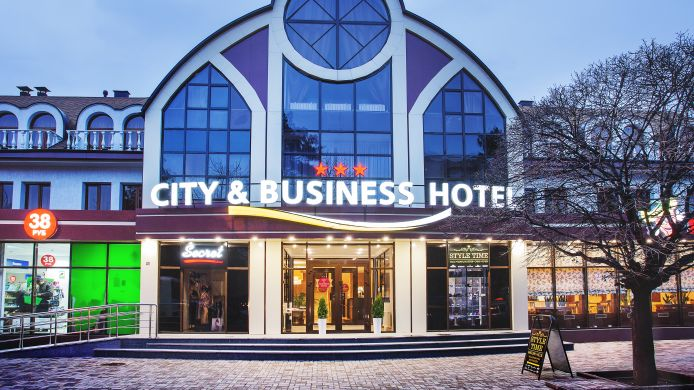 Buitenaanzicht City& Business Hotel