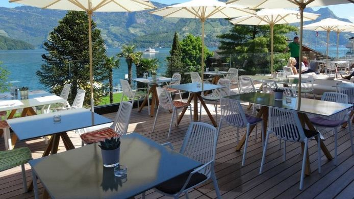 Terrace Seerausch Swiss Quality Hotel Beckenried