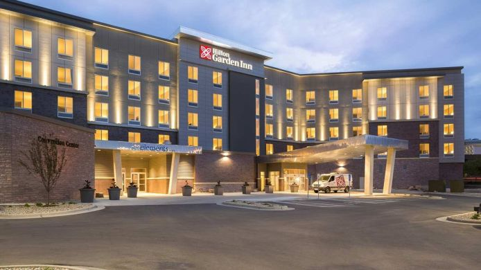 Exterior view Hilton Garden Inn Sioux Falls Downtown SD