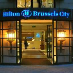 Exterior view Hilton Brussels City