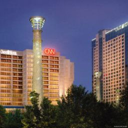 Exterior view Omni Hotel at CNN Center
