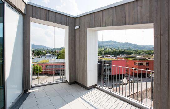 Green City Hotel Vauban-Freiburg im Breisgau-Zimmer mit Terrasse