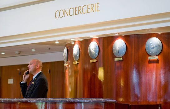 Hol hotelowy Paris Marriott Rive Gauche Hotel & Conference Center