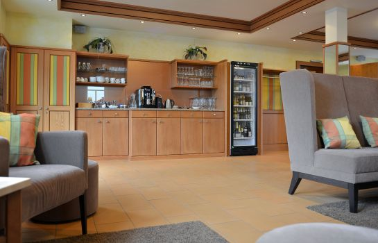 Vista all'interno Goldenes Fass TOP-Hotel