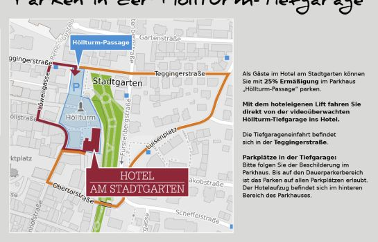 Routekaartje Am Stadtgarten