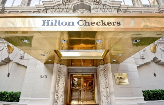 Buitenaanzicht Hilton Checkers Los Angeles