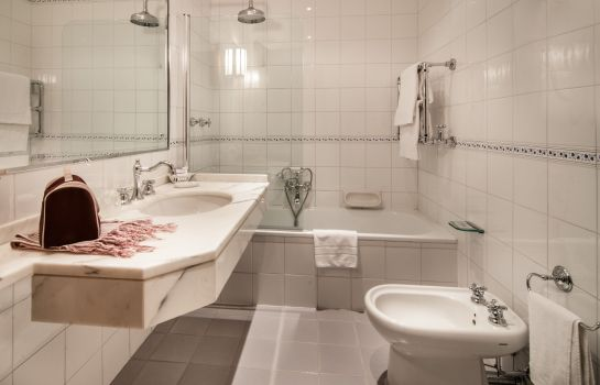 Bagno in camera Bastiani Grand Hotel