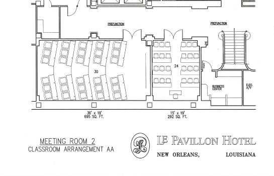 Conference room Le Pavillon New Orleans