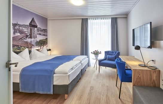 Chambre double (confort) Hotel Central Luzern
