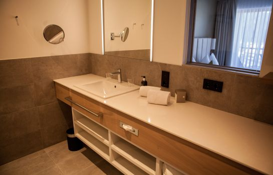Bagno in camera Das Hohe Salve Sportresort