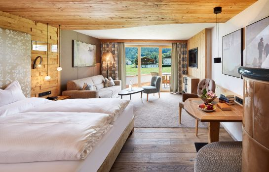 Pokój typu junior suite Alpine Wellnesshotel Karwendel