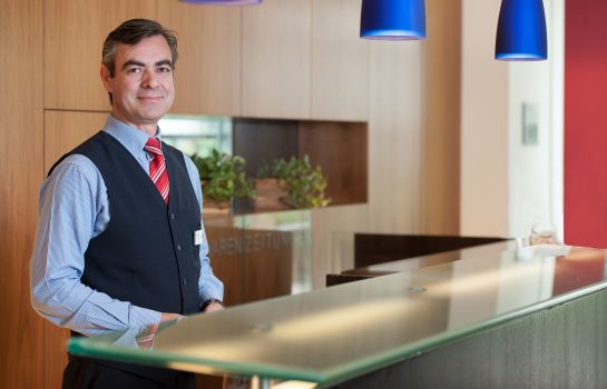 Empfang Airport Boutiquehotel Hein