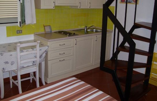 Kitchen in room Hotel Nido D'Aquila