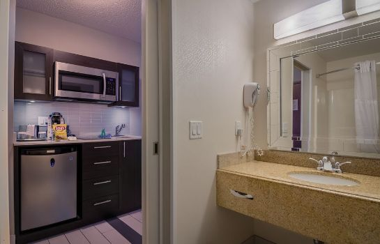 Cuarto de baño Maplewood Suites Extended Stay- Syracuse/Airport