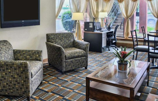 Lobby Central Park Area Quality Inn Fredericksburg